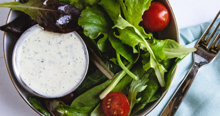 Healthy Homemade Ranch Dressing With Fresh Herbs