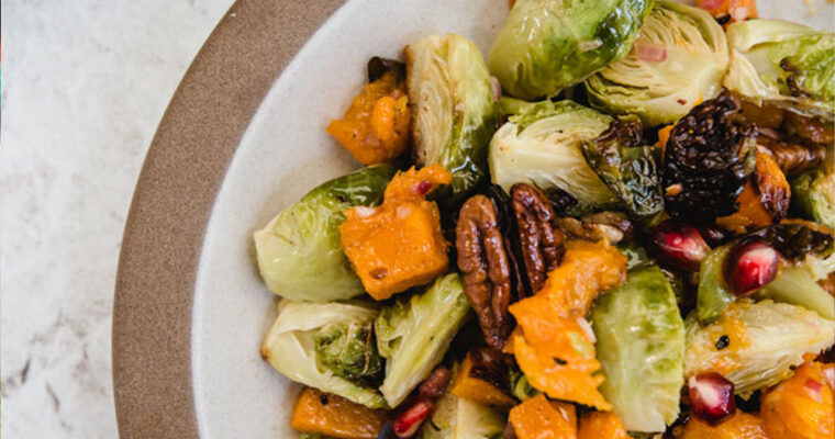 Roasted Brussels Sprouts Salad With Butternut Squash