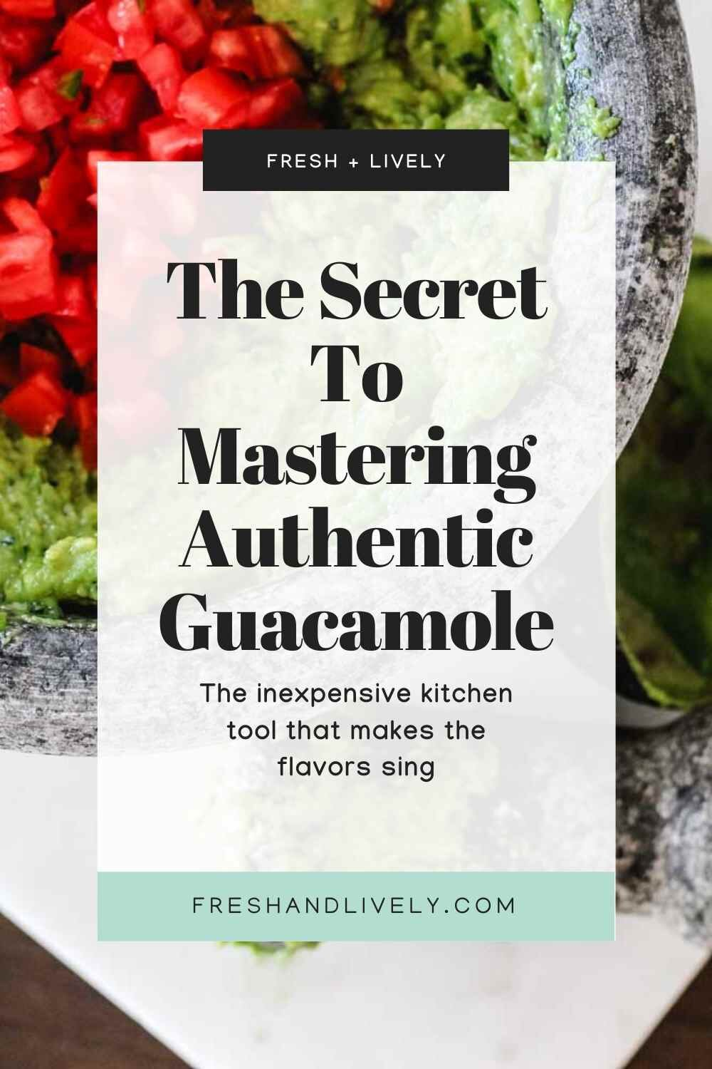 Guacamole ingredients are ground in a traditional molcajete. Post includes guacamole recipe - easy!